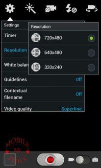 Samsung Galaxy Grand Quattro Resolution