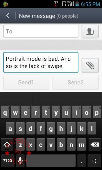 Typing Potrait mode