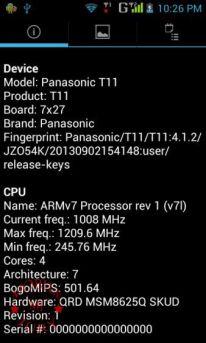 Device CPU info