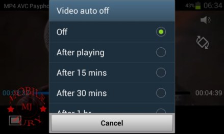 Video auto off_Samsung Galaxy Star Pro