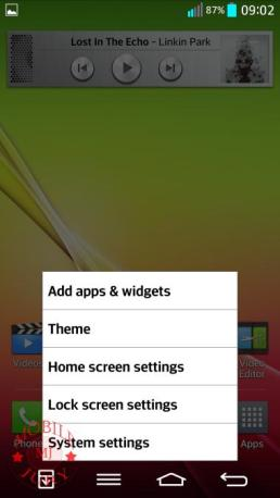 homescreen settings_LG G2
