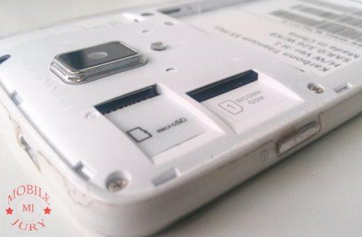 SIM1 and microSD card slots