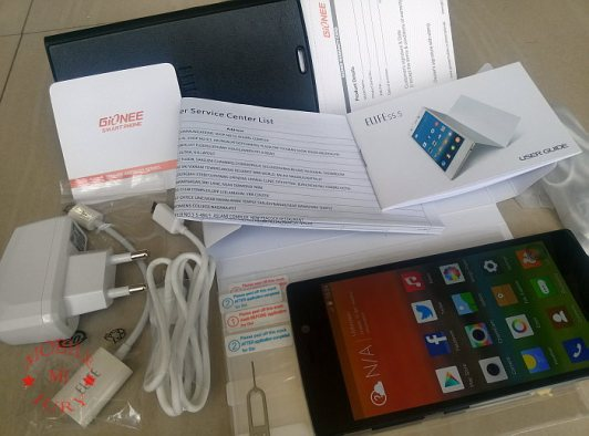 Box contents- gionee elife s5.5 review