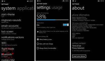 Nokia Lumia 830 Review Settings