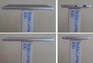 Nokia Lumia 830 Sides