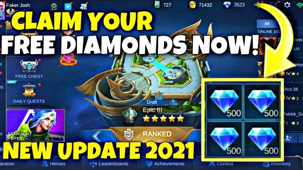 FREE DIAMONDS NEW EVENT? | GET FREE DIAMONDS MOBILE LEGENDS 2021 - NEW EVENT ML 2021