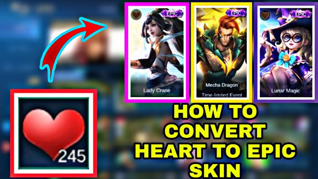 HOW TO CONVERT HEART TO EPIC SKIN | MOBILE LEGENDS TRICKS | QUEEN MELONA