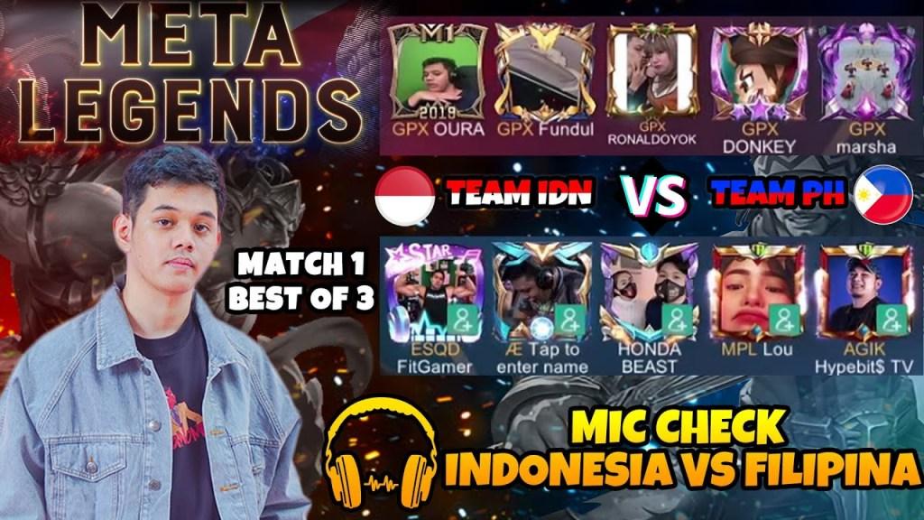 MIC CHECK KOL INDONESIA VS KOL PHILIPINE MATCH 1!!