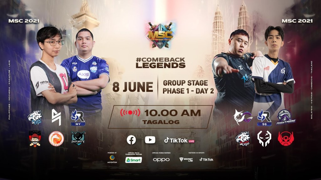 [Tagalog] MSC Group Stage Phase 1 - Day 2 | MLBB Southeast Asia Cup 2021