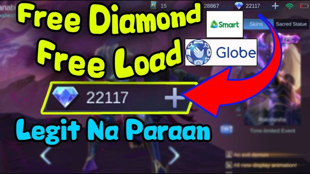 Free Diamond Mobile Legends / Load | 3 Winners!!! 2nd Weekly Giveaway