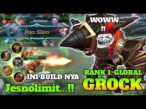 Grock New Skin | Castle Guard Grock Gameplay | Mobile Legends ..! Ada Build nya kuat ...!!