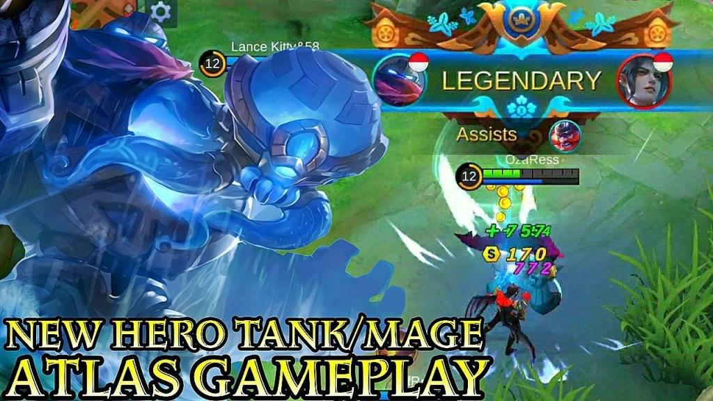 New Hero Atlas Tank/Mage Gameplay - Mobile Legends Bang Bang