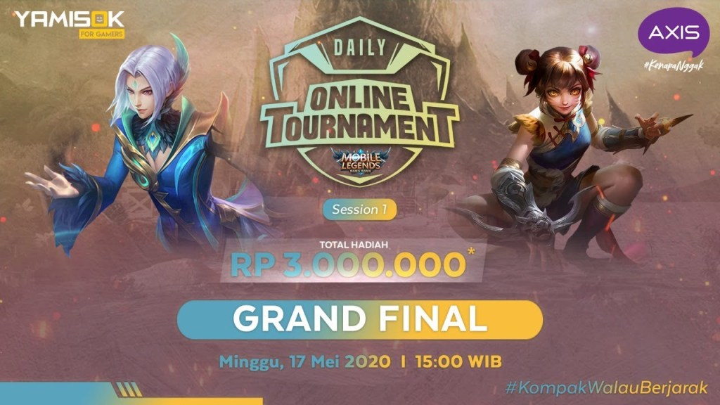 [LIVE] Axis Daily Tournament Mobile Legend Bang Bang! weekly final | 17 Mei 2020