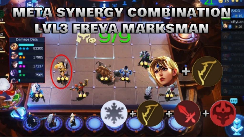 LVL3 FREYA MARKSMAN - TOP GLOBAL MAGIC CHESS PLAYER | Mobile Legends Bang Bang