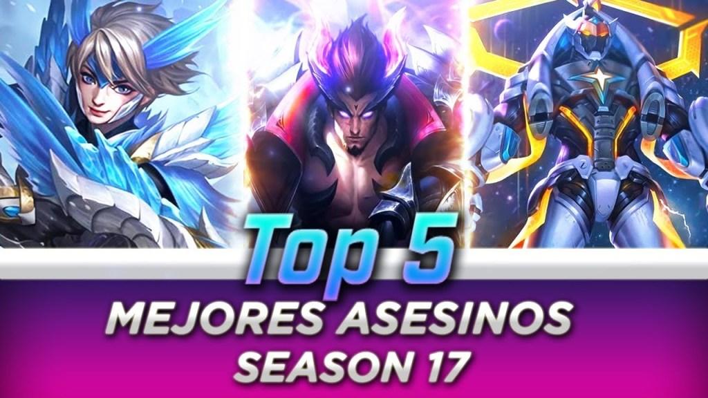 TOP 5 MEJORES ASESINOS 😱   SEASON 17   MOBILE LEGENDS ESPAÑOL