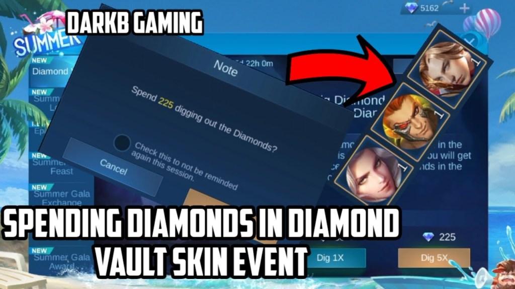 Spending Diamonds in Diamond Vault Skin Event July 2020 | Mobile Legends | MLBB