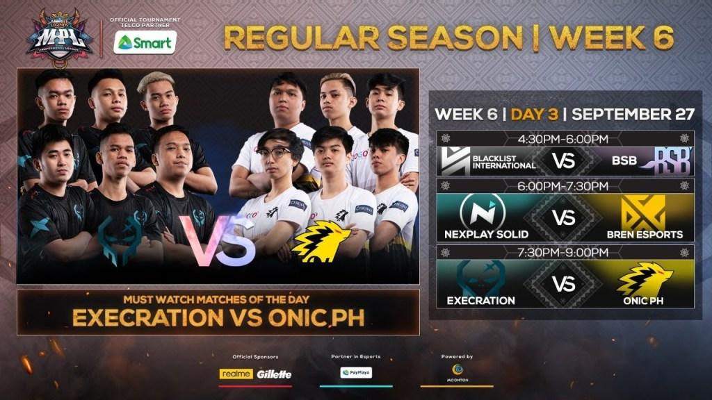 (English LIVE) LIVE NOW: MPL-PH Season 6 Regular Season Week 6 Day 3