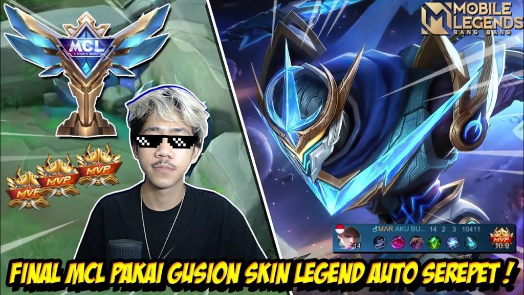FINAL MCL PAKAI GUSION SKIN LEGEND BERSAMA SQUAD MASTAKA RANCUNG - Mobile legends
