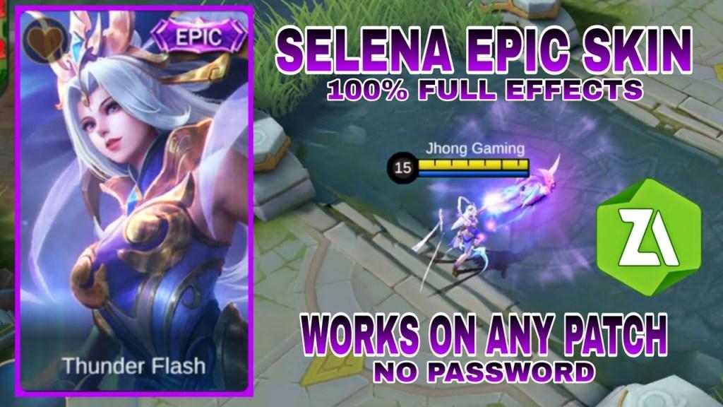 Selena Thunder Flash Epic Skin Script - NO PASSWORD / Easy Tutorial / Mobile Legends