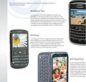 bestbuyleak Telus Mobility to Snatch HTC Snap, Touch Pro2, BlackBerry Tour