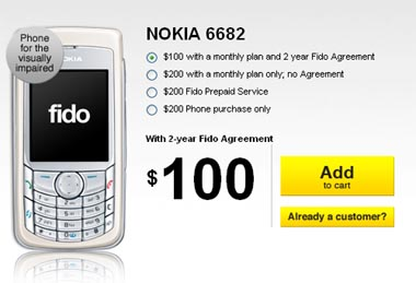 nokia Fido Reaches Back to 2005 to Find Nokia 6682