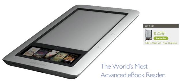 nook  Barnes & Noble eBook Reader Challenges Amazon Kindle