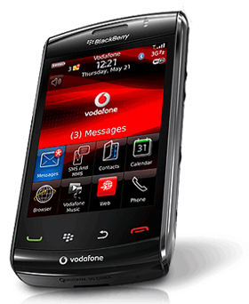vodastorm A Short-Term BlackBerry Storm2 Exclusive for Vodafone