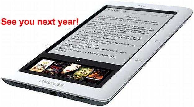 bnnook No Barnes & Noble Nook eBook Reader Until Next Year