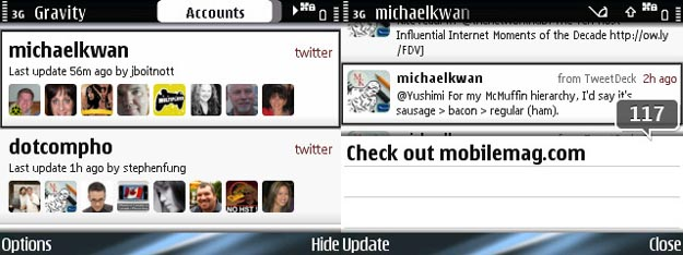 gravity-1 REVIEW - Gravity Twitter Client for Symbian S60 Smartphones