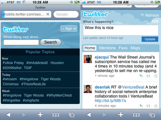 mobiletwitter Check Out the Updated Mobile Twitter Site