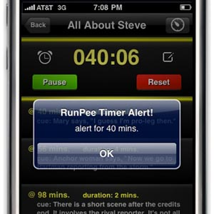 runpee Timed Offline Alerts with RunPee Movie App Update