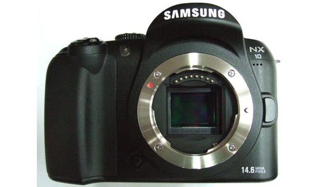 samsungnxhybrid Samsung NX10 Hybrid Camera: DSLR Sensor, No SLR