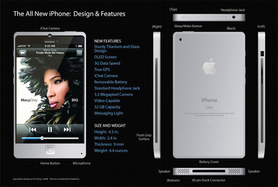 iphone-4g-concept Apple iPhone 4G rumours: Due out in May with 'touch sensitive' case