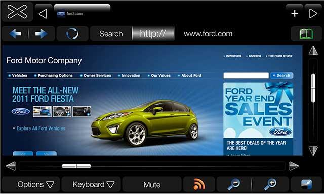 myford-touch-screen Ford Sync gets update, MyFord Touch driver interface is sweet