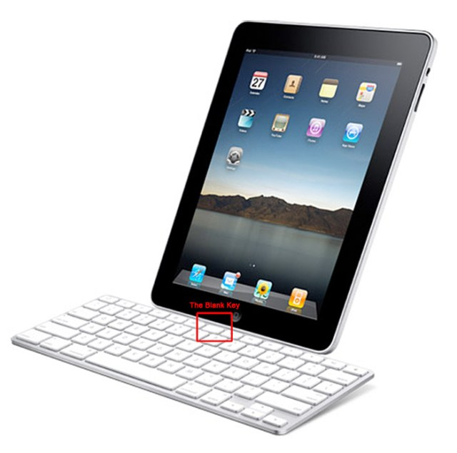 ipad-blankkey Mystery blank key discovered on Apple iPad keyboard dock