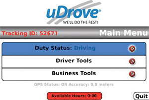 udrove uDrove mileage and expense tracker for iPhone, BlackBerry and Androids
