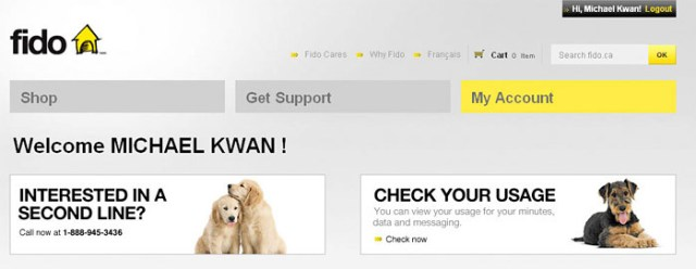 """fido-usage-011 Fido adds """"Check Your Usage"""" to online account profiles"""