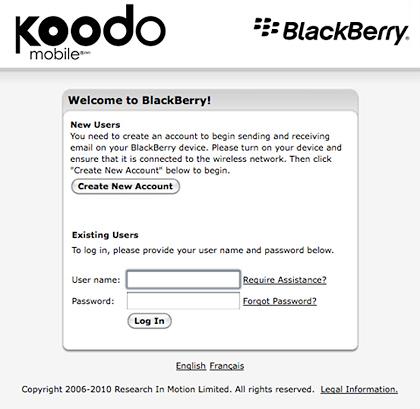 koodomobile-bb BlackBerry service coming to Koodo Canada?