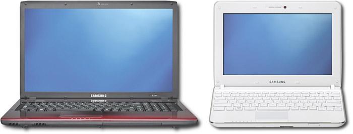 samsung-R780-N210 Samsung N210 Netbook and R780 Notebooks now on Best Buy shelves