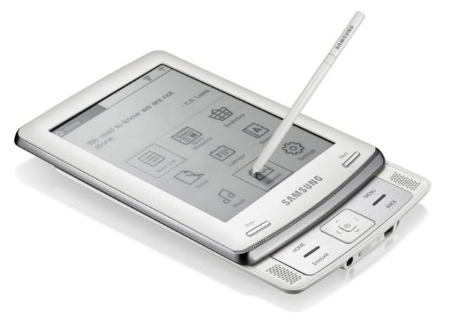 samsung-ereader-angle Samsung eReader with text-to-speech technology unveiled