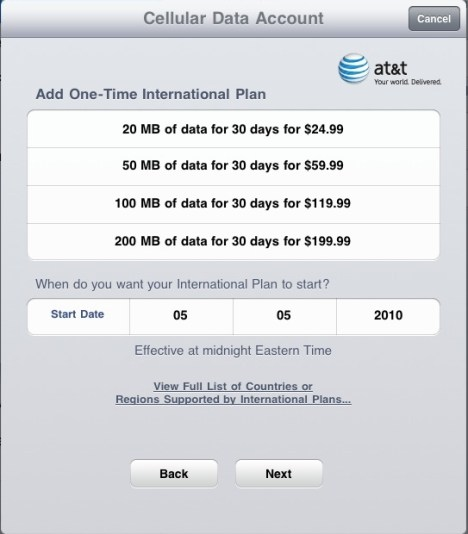 iPad3G_Data iPad international roaming data still pricey with AT&T