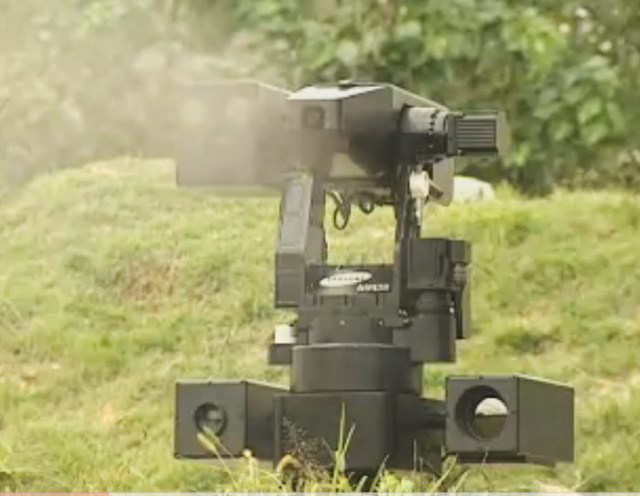 sgr-a1 South Korea deploys grenade launching robots at border