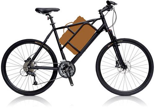 tata-bike-01 Tato commuter bike stowes a laptop between your legs