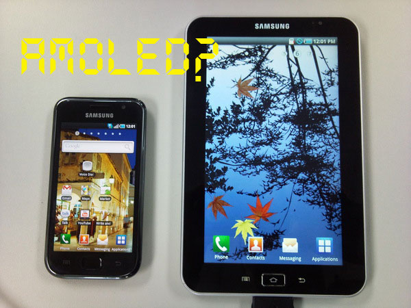 galaxytab-amoled Samsung Galaxy Tab Android tablet to rock AMOLED display?