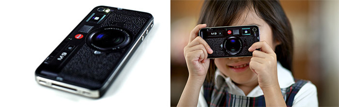 leica-m9-iphone-4-01 Leica M9 skin not official, turns iPhone 4 into a retro shooter