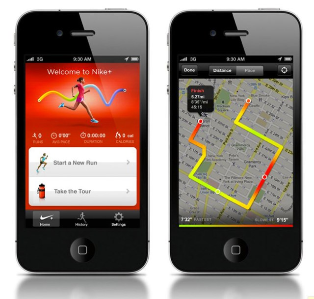 nikeplusgps-01 Nike+ GPS app for iPhone tracks your run on Google maps