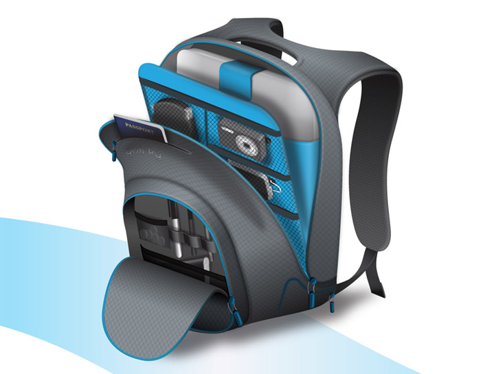 trek-support-2 The geeky backpack by Quirky with built-in battery and charger