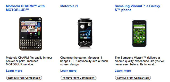 google-phone-comparison  Google helps you compare Android devices with phone gallery database