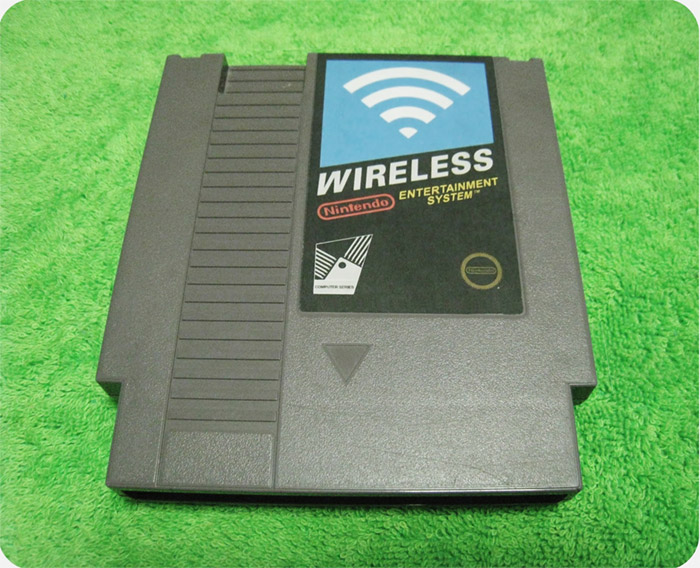nes-wifi-cartridge NES Cartridge modded as wireless router, exterior sticker and all