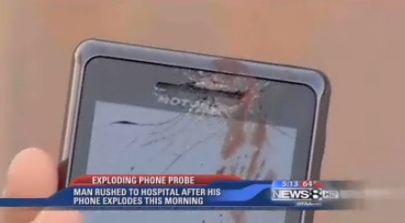 droid_2_blood Motorola Droid 2 explosion was a hoax?